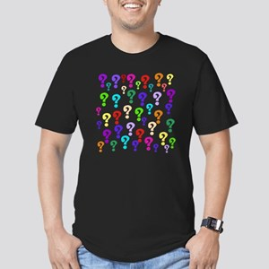 Rainbow Of Question Ma Men's Fitted T-Shirt (dark)
