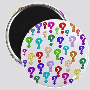 Rainbow Of Question Marks Magnet