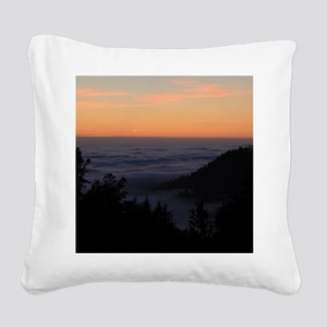 Sunset At Shelter Cove Square Canvas Pillow