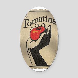 La Tomatina Oval Car Magnet