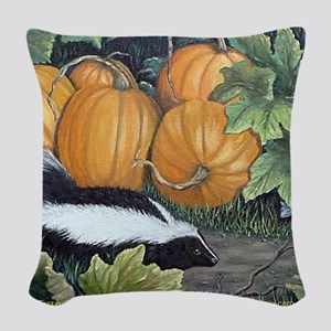 Trick or Treat tile coaster Woven Throw Pillow