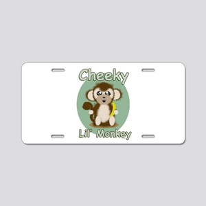 Cheeky Lil Monkey Aluminum License Plate