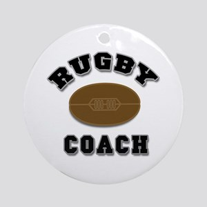 Rugby Coach Ornament (Round)