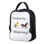Skijoring Horse Neoprene Lunch Bag