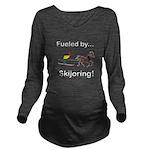 Skijoring Horse Long Sleeve Maternity T-Shirt