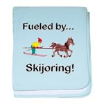 Skijoring Horse baby blanket