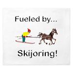 Skijoring Horse King Duvet