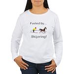 Skijoring Horse Women's Long Sleeve T-Shirt