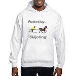 Skijoring Horse Hooded Sweatshirt