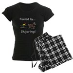 Skijoring Horse Women's Dark Pajamas
