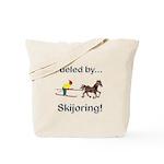 Skijoring Horse Tote Bag