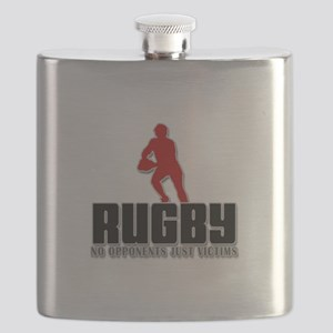 Rugby No Opponents Just Victims Flask
