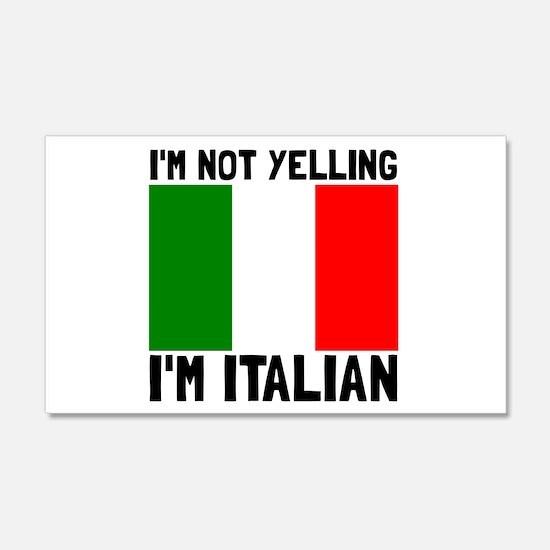 Yelling Italian Wall Decal