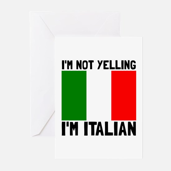 Yelling Italian Greeting Cards