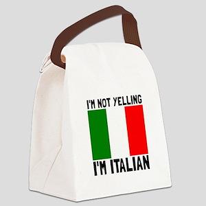 Yelling Italian Canvas Lunch Bag