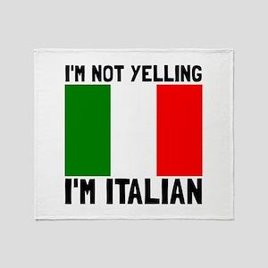 Yelling Italian Throw Blanket