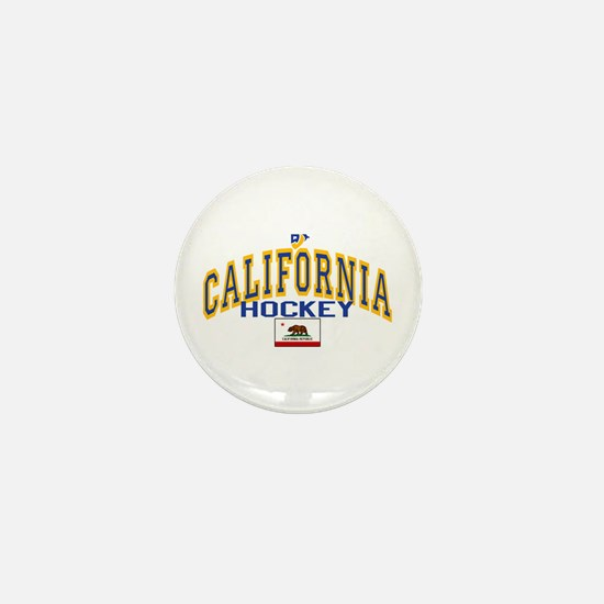 Cali Gold Hockey Mini Button
