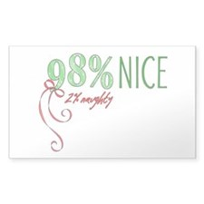 98% Nice, 2% Naughty Sticker