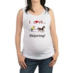 Skijoring Horse Maternity Tank Top