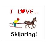 Skijoring Horse Small Poster