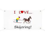 Skijoring Horse Banner