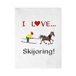 Skijoring Horse Twin Duvet