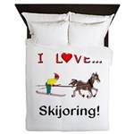 Skijoring Horse Queen Duvet