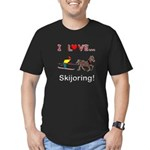 Skijoring Horse Men's Fitted T-Shirt (dark)