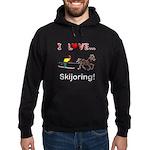 Skijoring Horse Hoodie (dark)
