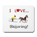 Skijoring Horse Mousepad