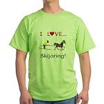 Skijoring Horse Green T-Shirt