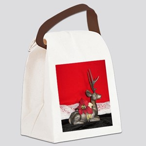 Christmas Reindeer Canvas Lunch Bag