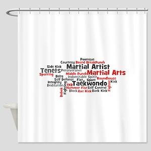 Martial Arts Taekwondo Shower Curtain