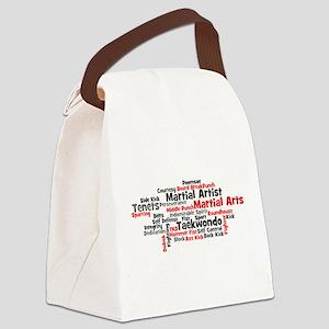 Martial Arts Taekwondo Canvas Lunch Bag
