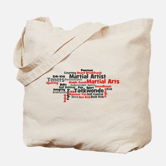 Martial Arts Taekwondo Tote Bag