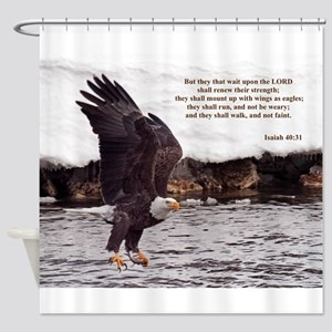 ISAIAH 40:31 EAGLE WINGS Shower Curtain