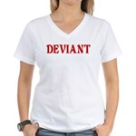 Deviant Adult Humor Women's V-Neck T-Shirt