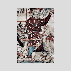 Odin riding Sleipnir Rectangle Magnet