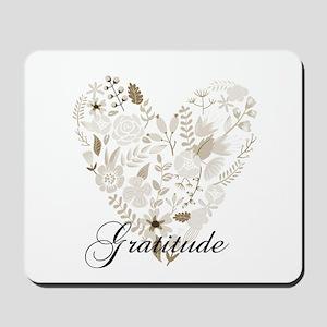 Gratitude Heart Mousepad