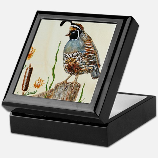 California Quail Keepsake Box