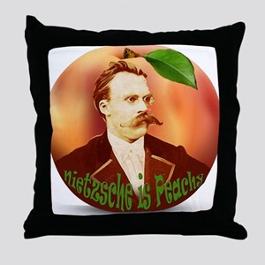 Nietzsche is Peachy Throw Pillow