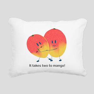 Two To Mango Rectangular Canvas Pillow