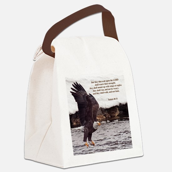 ISAIAH 40:31 WINGED EAGLES Canvas Lunch Bag