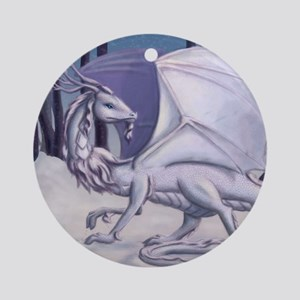 Snow Dragon Round Ornament