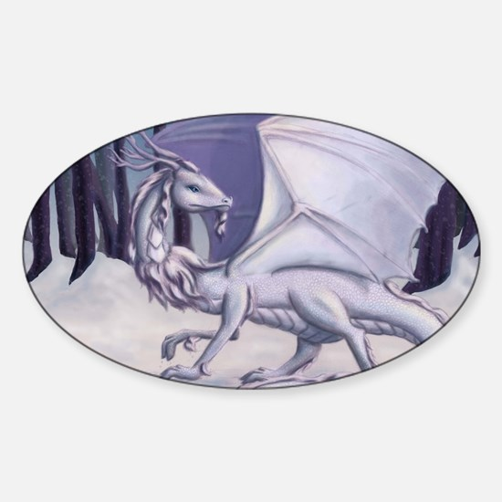 Snow Dragon Sticker (Oval)