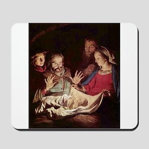 Nativity by Gerard van Honthorst Mousepad