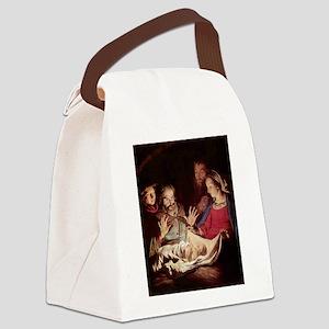 Nativity by Gerard van Honthorst Canvas Lunch Bag