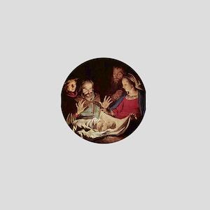 Nativity by Gerard van Honthorst Mini Button