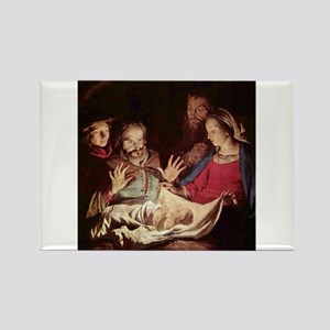 Nativity by Gerard van Honthorst Magnets