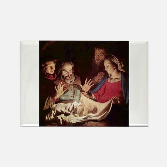 Nativity by Gerard van Honthorst Magnets